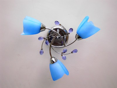 SS Luxury Blue LED Decorative Lights 9Watts Chandelier Ceiling Lamp