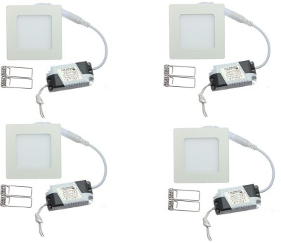 Onlite 8w Square LED white Light Pack of 4pcs Recessed Ceiling Lamp