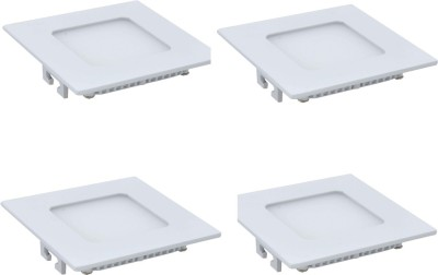 Onlite 22w Square LED white Light Pack of 4pcs Recessed Ceiling Lamp
