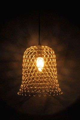 Logam Logam Gold bell hanging lamp (Ring collection ) Pendants Ceiling Lamp