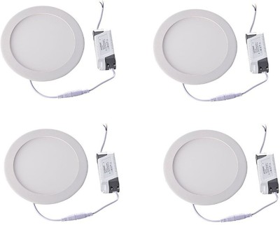 Onlite 8w Round LED white Light Pack of 4pcs Recessed Ceiling Lamp