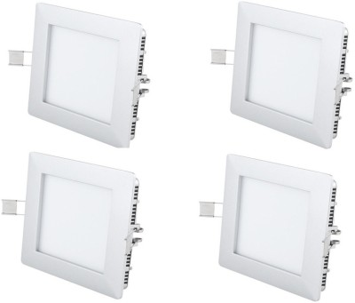 MAXX 8w Square LED white Light Pack of 4pcs Recessed Ceiling Lamp
