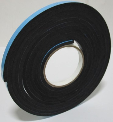 BAPNA DOUBLE SIDE ADHESIVE 10MM WIDTH X 10 MM THICK X 5 METER LENGTH SMALL THICK BLACK FOAM TAPE (MANUAL)