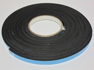 BAPNA DOUBLE SIDED 12 MM WIDTH X 6 MM THICK X 5 METER LENGTH SMALL 6MM foam ADHESIVE TAPE (MANUAL)