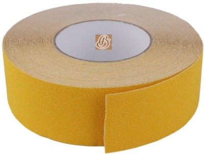 Bapna SINGLE SIDED 50 MM WIDTH X 15 Meter LENGTH Medium Yellow Anti Skid Anti Slip (Manual)