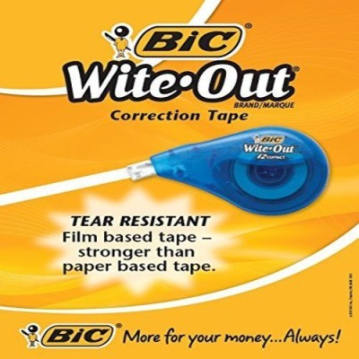 BIC Single Sided Large Small Handheld Correction Tape (Manual)