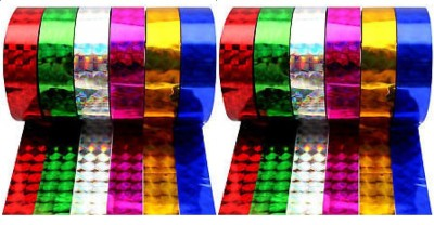 PremPari 3D 20 Yards Small Hand Glitter Tape (Manual)(Pink, Blue, Green, Red, Gold, Silver)
