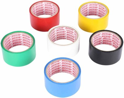 Mexim Assorted BOPP 6 Colour Single Sided Large Cello Tapes