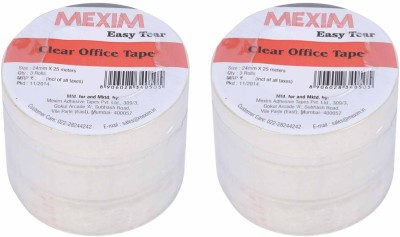 Mexim Office Easy Tear Clear 24 mm Single Sided Small Cello Tapes