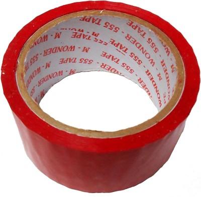 ZakTag Single Tape 18 meter (59 ft) x 5 cm (2 inch) . . Red color Tape (.)