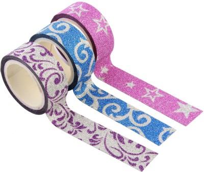 AND Retails Single Sided Standard Medium Handheld Decorative Adhesive Glitter Washi Tape Rolls (Manual)