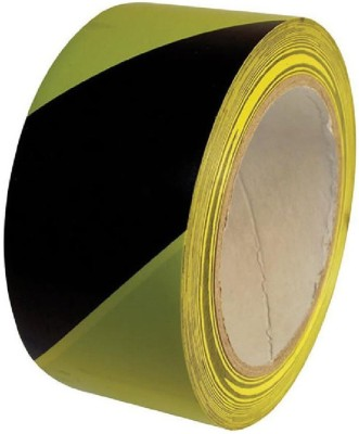 Bapna Single Sided Yellow And Black Small Floor Marking Pvc Marking Tape (Manual)
