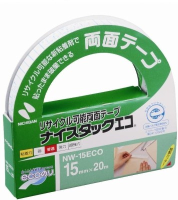 Nichiban Double Sided medium Large Handheld Tissue tape (Manual)(Set of 1, Transparent)