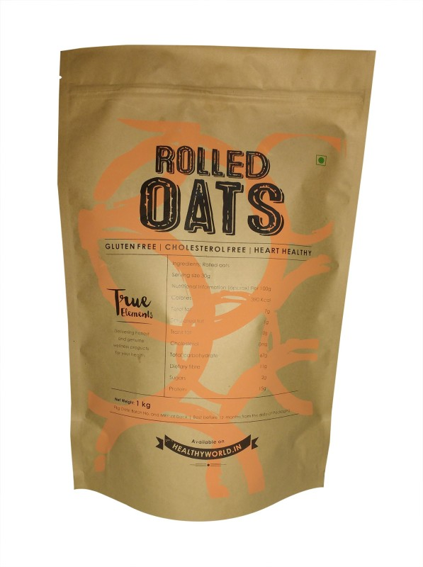 True Elements Rolled Oats Original Grain Form Cereal(Rolled Oats)