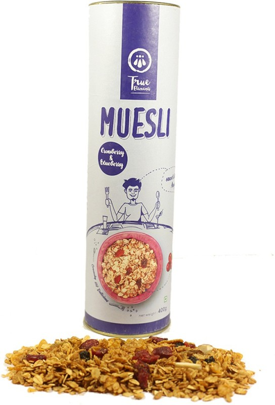 True Elements Muesli Flake Cereal(Cranberry And Blueberry)