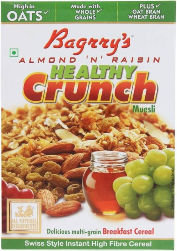 Bagrry's Oats Flake Cereal(Almond N Raisin Healthy Crunch)