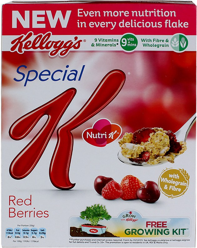 Kellog's Whole Grain Wheat Flake Cereal
