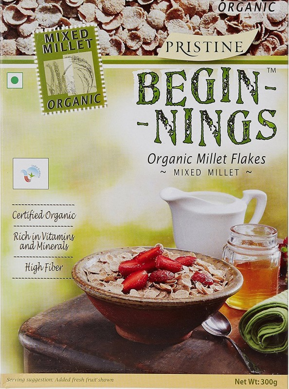 Pristine Cornflakes Flake Cereal(BEGINNINGS ORGANIC BREAKFAST CEREAL ORGANIC MILLET ( MIXED MILLET)- NO ADDED SUGAR)