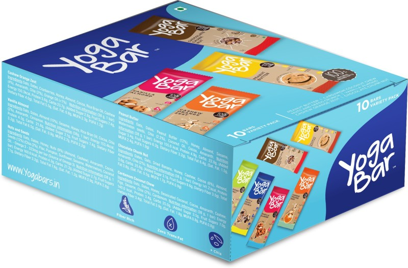 Yogabar Oats Original Grain Form Cereal(Chocolate, Vanilla Almond, Orange and Nuts and Seeds)