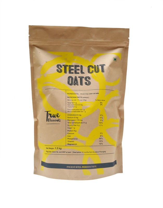 True Elements Oats Original Grain Form Cereal(Steel Cut)