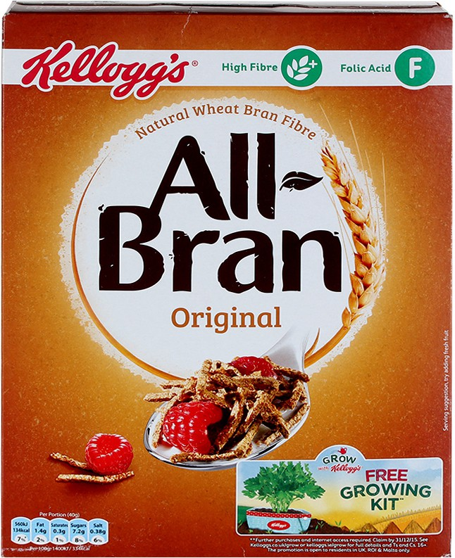 Kellog's Wheat Bran Flake Cereal
