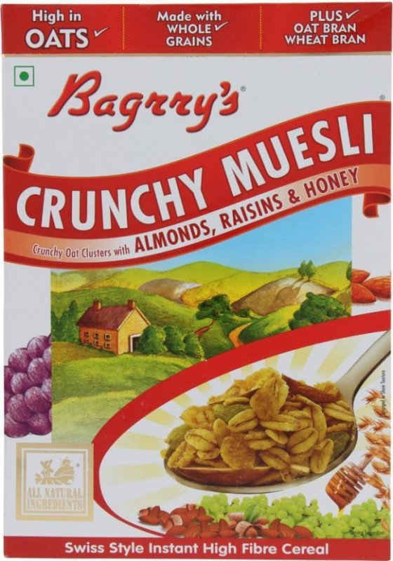 Bagrry's Muesli Flake Cereal(Almond Raisin & Honey)