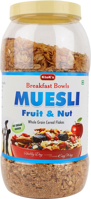 KtoK's Breakfast Bowls Muesli Flake Cereal(Fruit and Nuts - No Added Sugar)