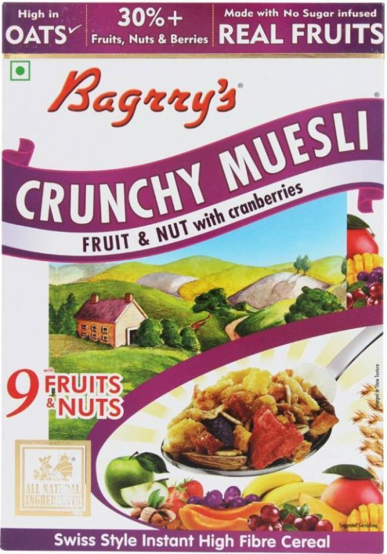Bagrry's Muesli Flake Cereal(Fruit and Nut with Cranberries)