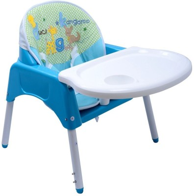 Ole Baby Anti Skid 3 in 1 Multipurpose Convertible Dinning cum Study Table High WITH CUSHION 0-7 years(Blue)