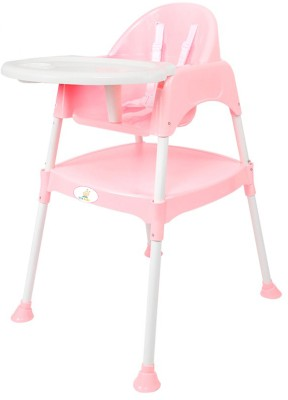 Ole Baby Anti Skid 3 in 1 Multipurpose Convertible Dinning cum Study Table High WITH CUSHION 0-7 years(Pink)
