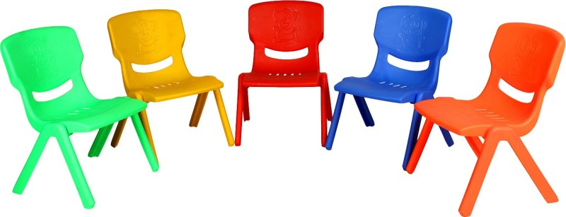 Abhiyantt Multicolor Kids Chair Combo-5(Red, Green, Yellow, Maroon, Blue)