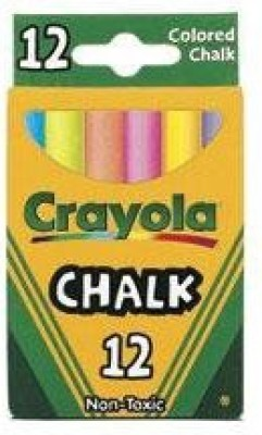 Crayola Crayola Chalk For Blackboards And Paper Assorted Colors writing board chalk(12 Sticks)