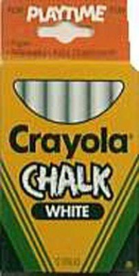 Crayola White Chalk writing board chalk(2 Sticks)