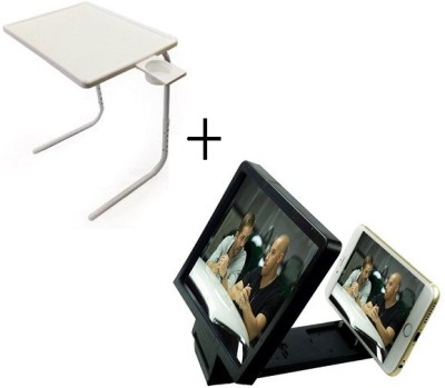 TABLE MATE TABLEMATE Adjustable Portable Folding Laptop Kid Study With 3d screen enlarge White Changing Table