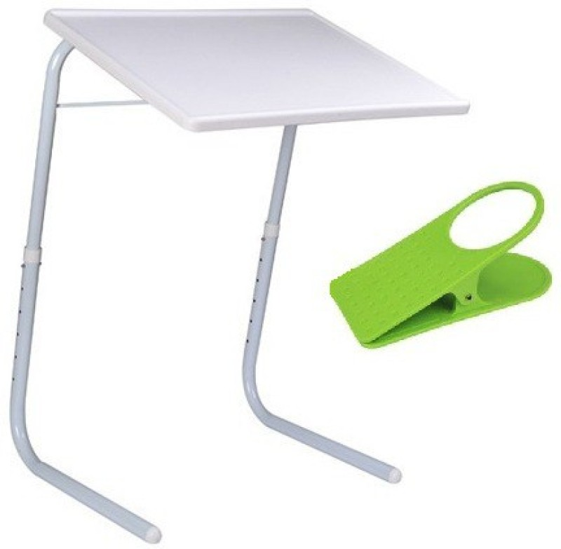 Table Mate II Adjustable Portable Folding Laptop Kid Study Mate With Clip Holder White Changing Table