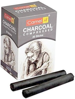 Camlin Compressed Charcoal Dark Stick