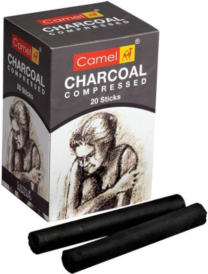 camlin Compressed Charcoal darl Stick(Pack of 20)