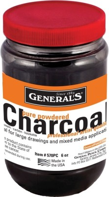 General's Powdered Charcoal Rich Black Stick(Pack of 1)