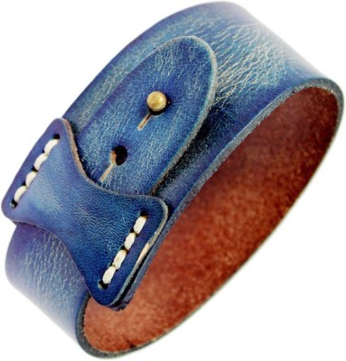 Sanaa Creations STYLISH BLUE DENIM LEATHER BAND FOR ALL OCCASIONS Alloy Beaded Charm at flipkart