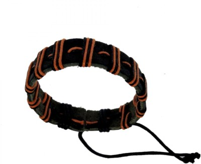 Sanaa Creations Add great style to your individual personality with this exclusive dual tone orange-black band bracelet - Alloy Beaded Charm at flipkart