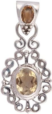 Kirti Gems Vintage Style Silver Floating Charm