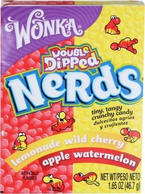 Wonka Double Dipped Nerds Lemonade wild cherry, Apple watermelon Chewing Gum(46.7 g Pack of 1)