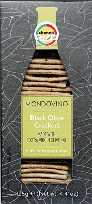 Mondovino Black Olive Crackers
