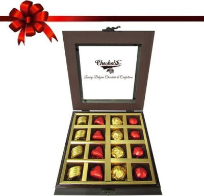 Chocholik 16 Pieces Lovers Delight Box Of Chocolate Truffles