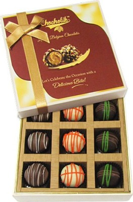Chocholik 9pc Ultimate Assorted Collection Of Belgium Chocolate Truffles