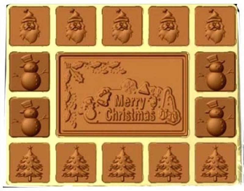 Ghasitaram Gifts Sugarfree Merry Christmas Box Chocolate Bars(Pack of 15,...