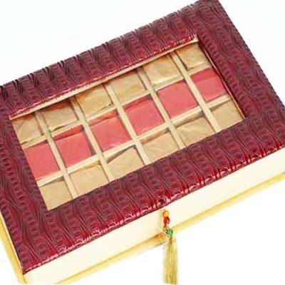 Ghasitaram Gifts Roasted Almond Maroon Box Chocolate Bars