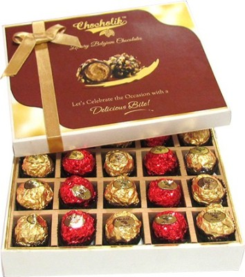 Chocholik 20pc Unique Combination Of Wrapped Box Luxury Chocolate Truffles