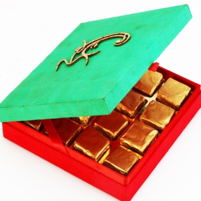 Ghasitaram Gifts Om Green Box Chocolate Bars