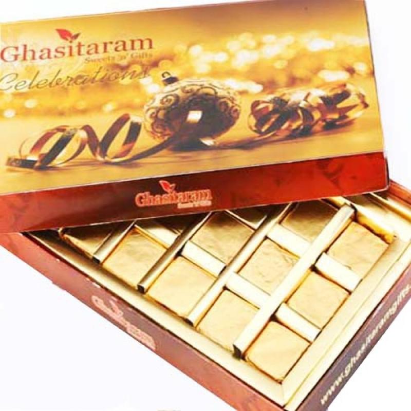 Ghasitaram Gifts Roasted Almond Chocolate Bars(Pack of 18, 250 g)